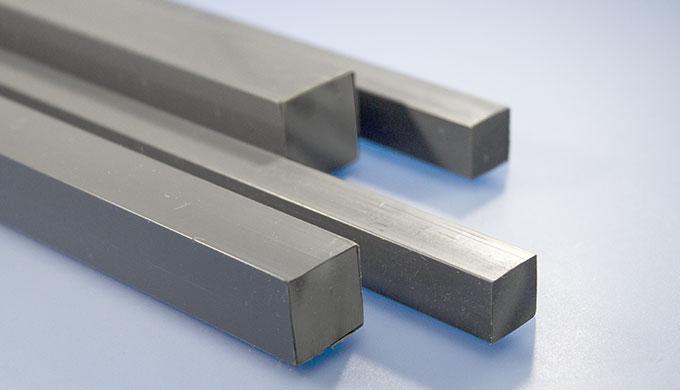 Barre carrée en PVC