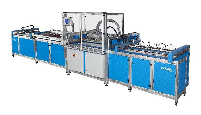 Vollautomatische Musterkarten-Produktionslinie für grösste Produktionsvolumina und Karten bis max. 5...