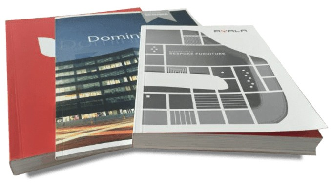 Perfect binding, PUR binding, Saddle stitching, Stapled binding, Register, Hardcover
