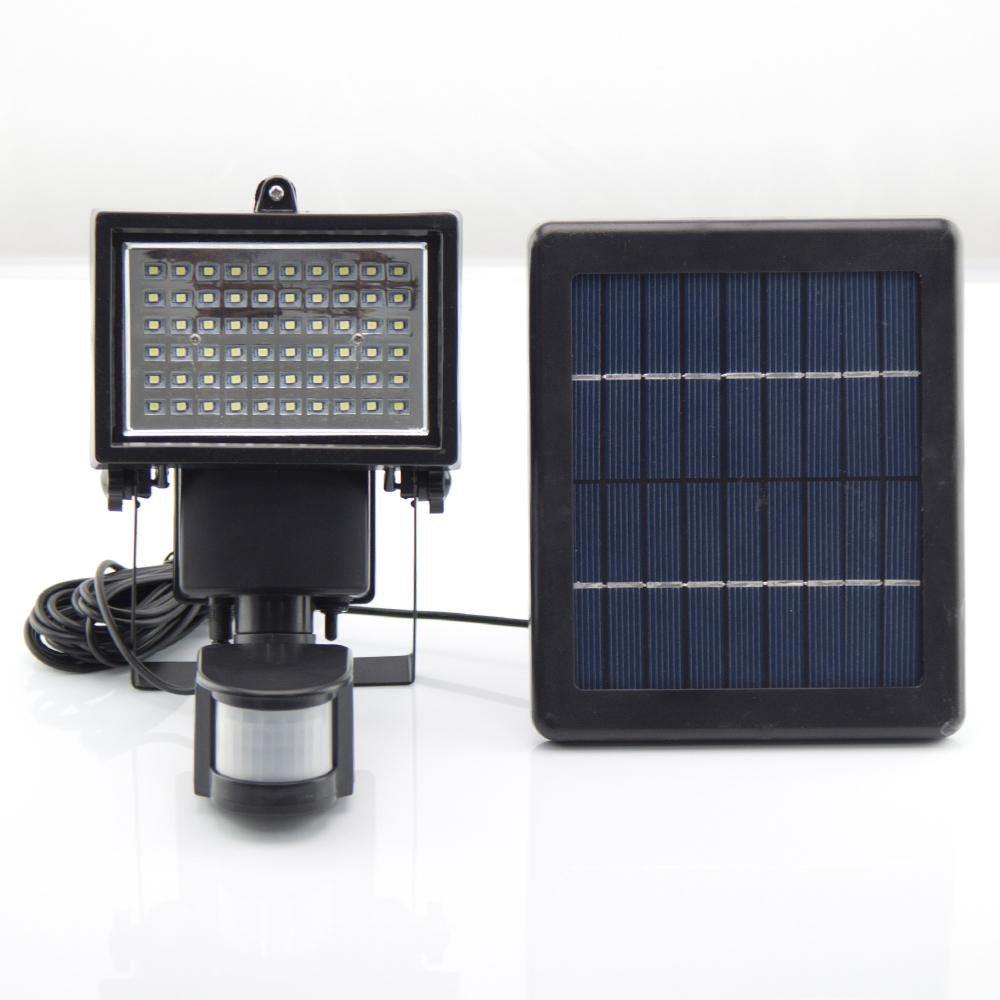 Solar Security Lights EVERMATE High Output 60 LED Waterproof Rechargeable Floodlight