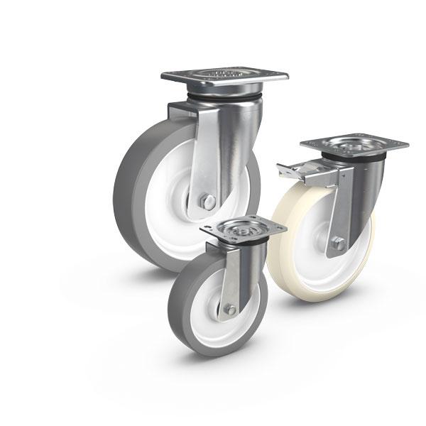 PEVOLASTIC® - und PEVOTHAN®-Räder bestehen aus einer PEVOLON®-Felge mit einer mechanisch unlösbar ve...