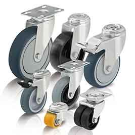 Apparate-Räder und -Rollen sowie Kompaktrollen werden überwiegend im Innenbereich an Apparaten und G...