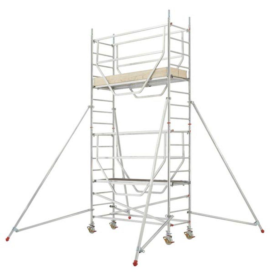 Plattformen können – vor dem Betreten – von unten mit Geländern gesichert werden Schließt die Lücke ...