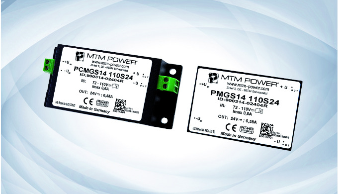NEW: Small 14 W DC/DC Converters from MTM Power