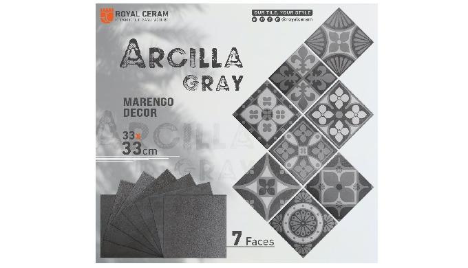 Size: 33x33cm Color: Marengo Type: Floor tiles
