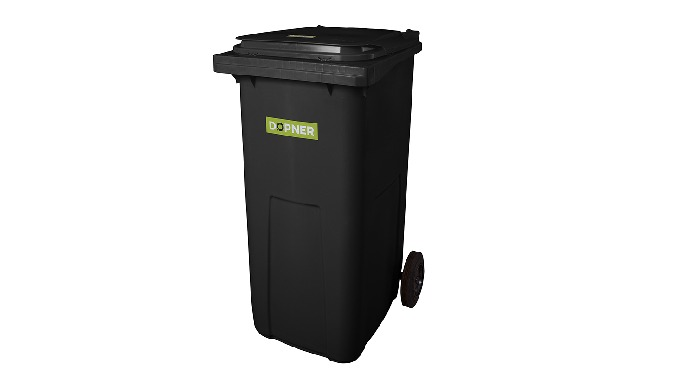 Parametry plastové popelnice Dopner 240l - černá 2 kolečka + osa prvovýroba - vysoká kvalita materiá...