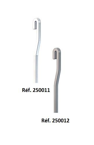 A suspendre sur rails horizontauxForme supérieure anti-dégondable sur le railA utiliser avec crochet...