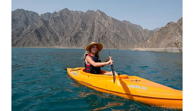 Hatta Kayak is a unique tourist destination in Dubai and UAE. Kayaking on the lake formed by the Hat...