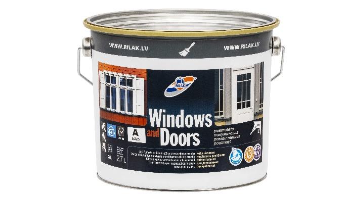 Pusmatēta, ātri žūstoša ar ūdeni atšķaidāmā alkīda emalja Windows and Doors. Paredzēta koka virsmu k...