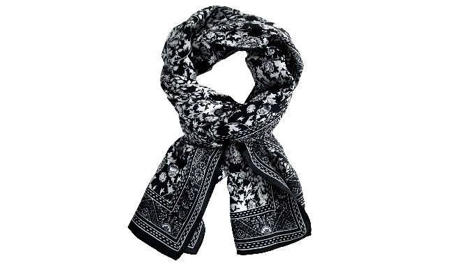 Women Soft Silk Oblong Scarf l eco-friendly printing scarf