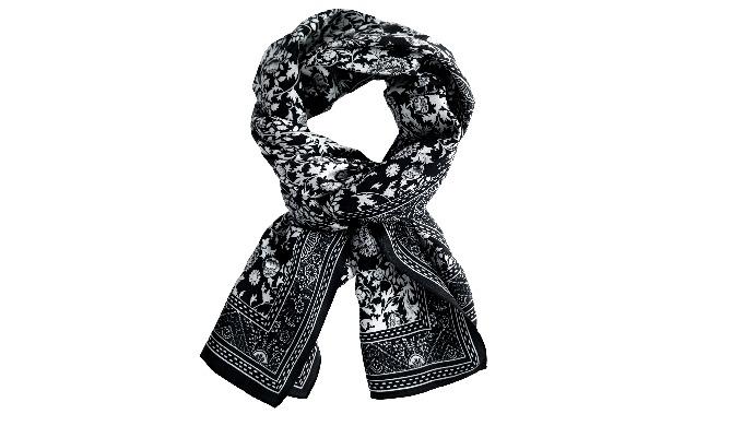 Женский мягкий шелковый продолговатый шарф l экологически чистый шарф с принтом
