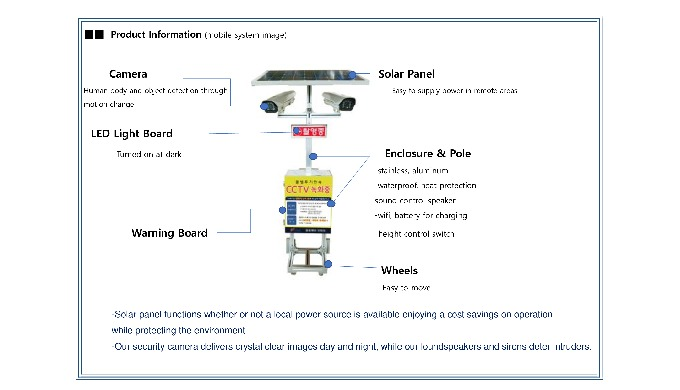 -Mobile Surveillance Camera Unit * Easy to move with wheels * Smart surveillance as camera trailers ...