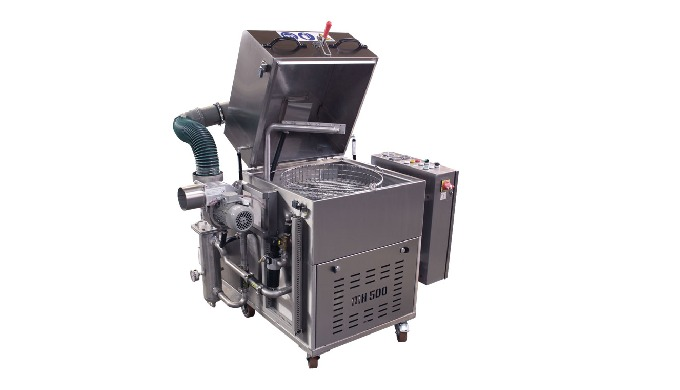 The smallest degreasing machine from the economical MH series – with a diameter basket of 500 mm. It...