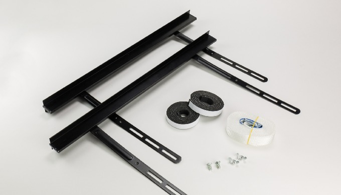 Stacking kit 2 pieces adjustable for Washing Machine or Dryer - Black Roller Kappatos's laundry stac...