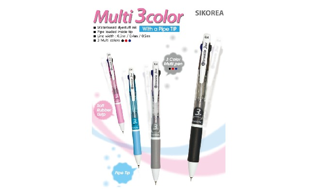 Multi 3color ball-point pen | Stationery articles