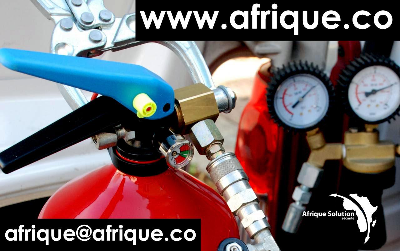 EXTINCTEUR Afrique solution sécurité dispose au sein de ses plateaux techniques sécurité-incendie si...