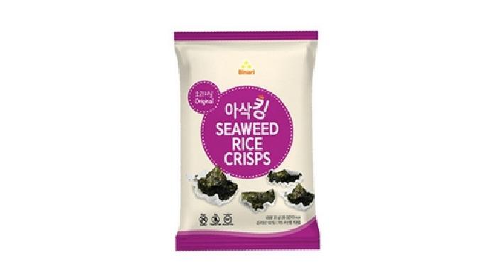 Seaweed rice crisps | seaweed snack