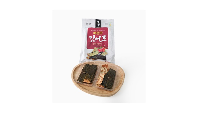 Spicy Seaweeds Fishery  Snack   Mrs. Kwon Seaweeds Fishery Snack