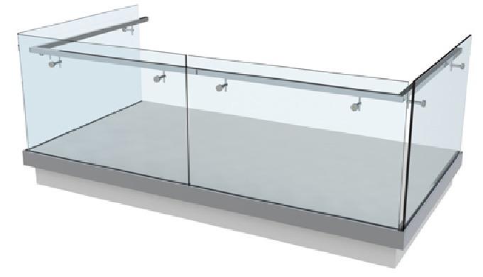 *GB_SV-1302 tube carré SA-423 REF: GB_SV-1302 Garde-corps modulaire GlassFit SV-1302Side …1000 mm de...