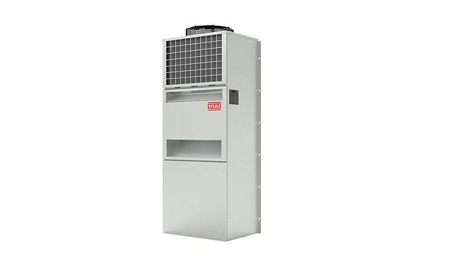 Unità di condizionamento di precisione per installazioni outdoor in container per telecomunicazioni.