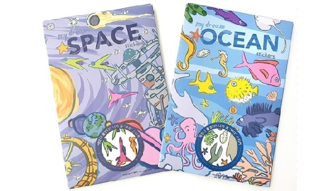 OCEAN & SPACE stickers are developed for more unique and fun play stickers for children. It has 5 st...