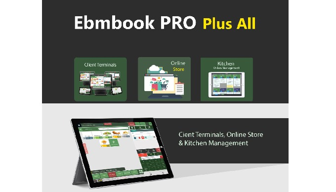 Do you need multi purpose smart software for your restaurant? Ebmbook PRO with Online Store Plus lic...