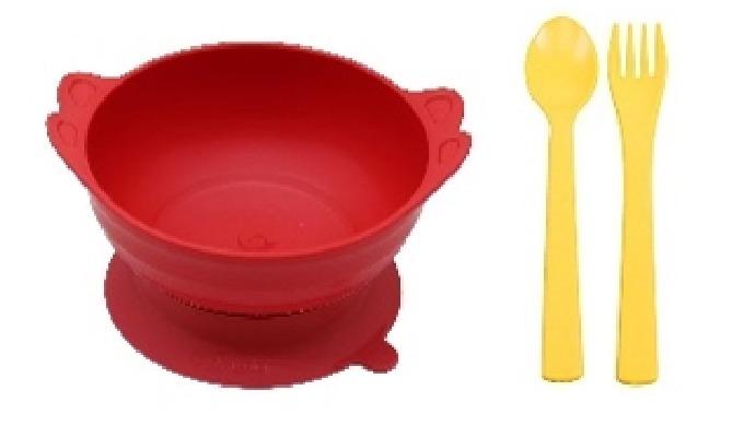 Suction Angel bowl set (Kids spoon&fork 2set)