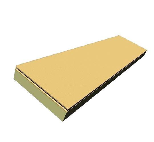 ZUMAPLAST vous présente plaque polyuréthane + fibre de bois 611 x 2511 x 175 mm dont 1 pièce = 1.53 ...