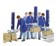 Vakuumlyft finns ett flertal utföranden för lyft av t ex kartong, säck, plåt, trä, plast och sten. K...