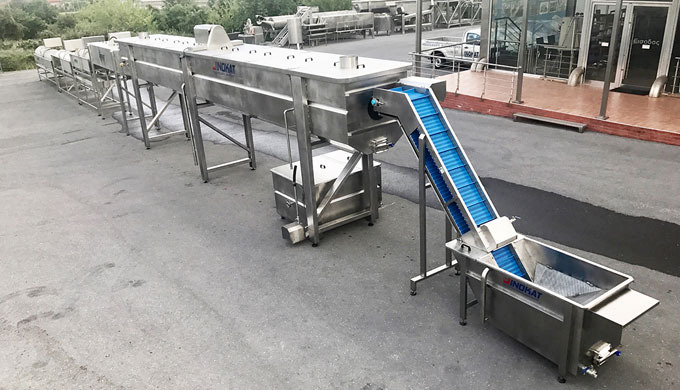 snail - shell processing line machineries