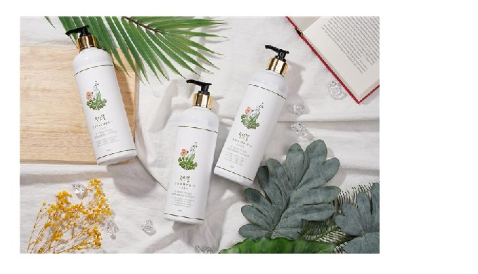Mugwort Shampoo for Sensitive Scalp-It contains mugwort produced in Injin province, copper-tripeptid...