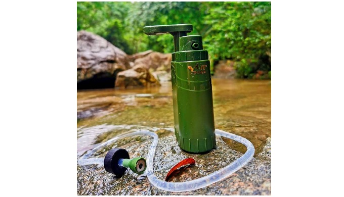 Portable water filter enables users to drink clean great-tasting water from renewable natural fresh ...