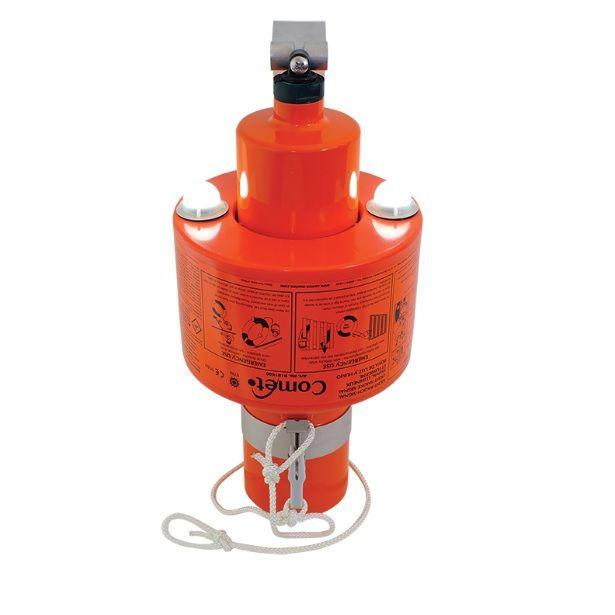 Lyset og røg Lifebuoy Marker producerer tætte orange røg i 15 minutter og har to selvstændig, invers...