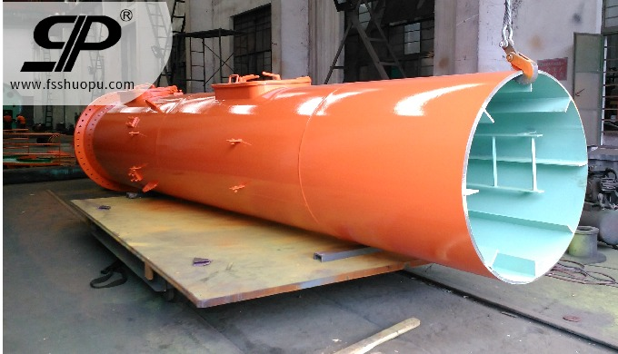 Fabrication weldment crane column for shipbuilding