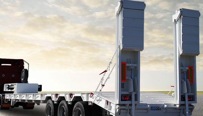 La semi-remorque porte-engins à 3 essieux COMET est destinée au transport de différents types de mat...