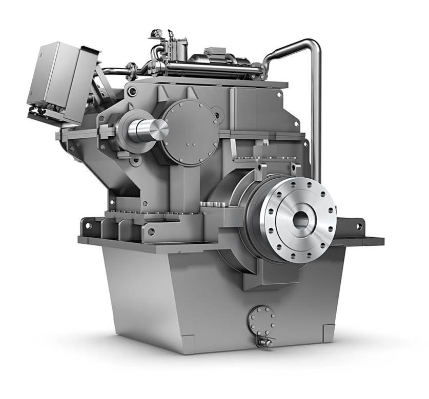 Getriebe mit Elektromotor / vertikal / für Marineanwendung