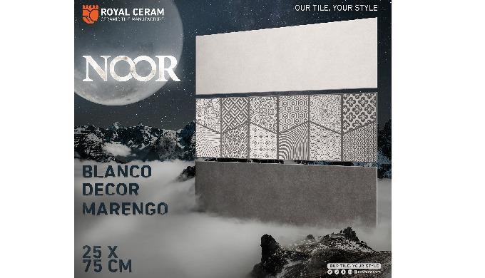 Size: 25x75cm Color: Blanco / Marengo / Decor Type: Wall tiles