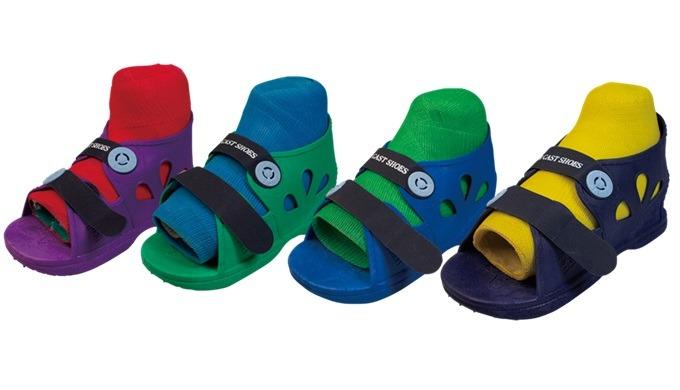 Orthopedics Color soft adjustable cast shoes