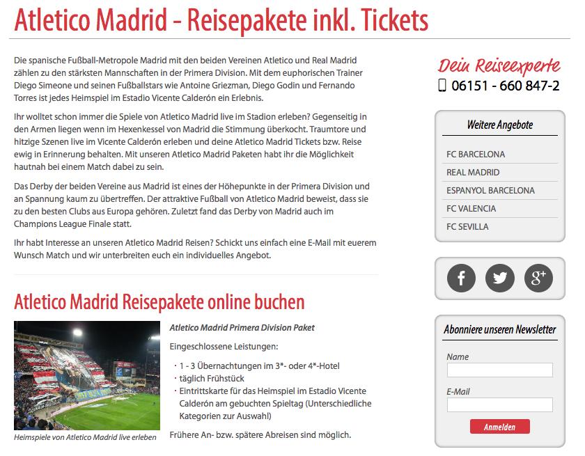 Ihr wolltet schon immer die Spiele von Atletico Madrid live im Stadion erleben? Gegenseitig in den A...