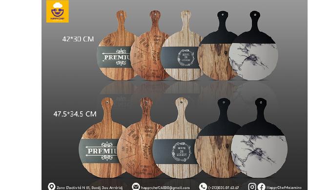 لوحة البيتزا تأتي لكم بمظهـر وملمس خشبي وبحجمين مختلفين! مصممة لتقديم مختلف أنواع الوجبات والمقبلات ...
