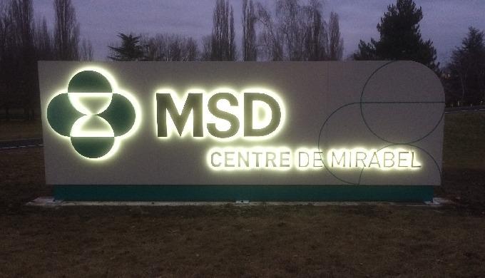 Signalétique des laboratoires MSD