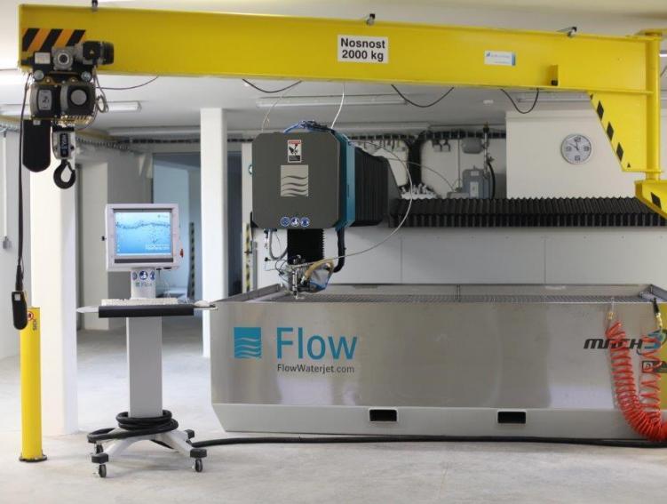 Řezání vodním paprskem FLOW Řezání vodním paprskem je moderní a ekologická metoda obrábění široké šk...