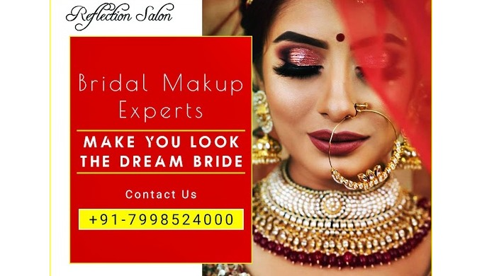 Reflection Salon is Best Bridal Makeup Artist in Karnal. that gives this socialized service in brida...