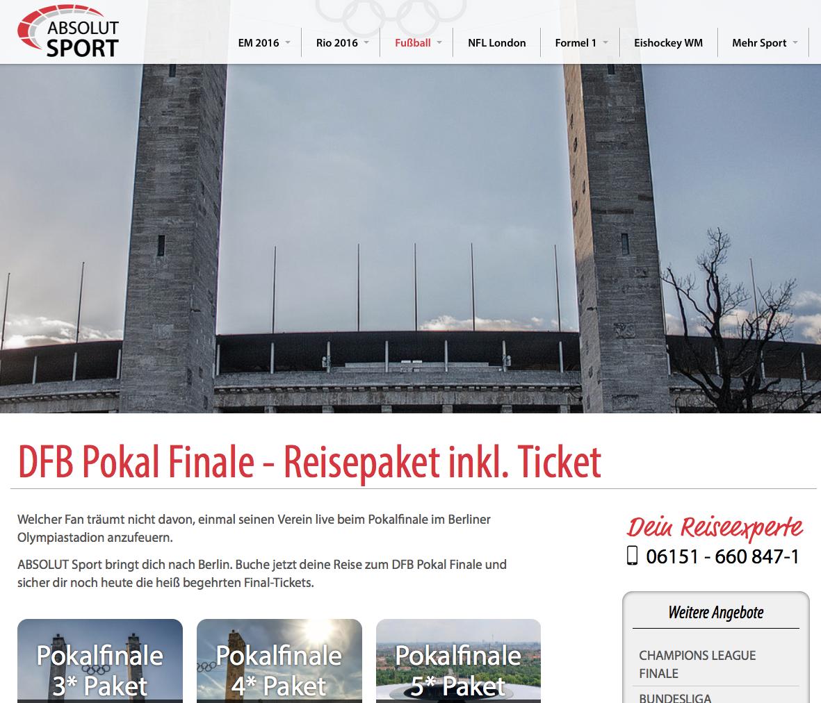 Auch 2016 ist das DFB Pokalfinale wieder das Highlight im deutschen Vereinsfußball. Eine Woche nach ...