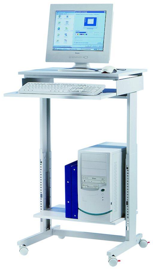 Sitzend oder stehend arbeiten Höhenverstellbar von 720 – 1100 mm Gestell aus stabilen Stahlprofilen....