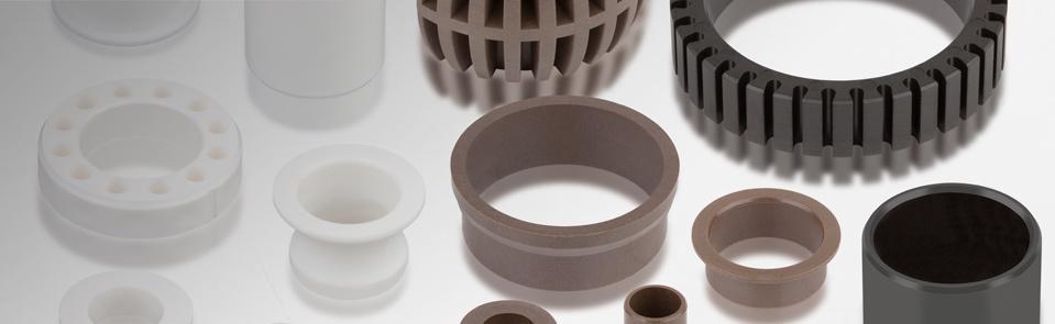 Technische Kunststoff-Gleitlager aus Thermoplast werden im Spritzgussverfahren hergestellt. So könne...