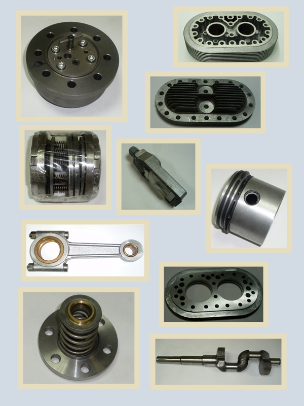 Детали вагонных компрессоров типов 5, G, F,4H2Y