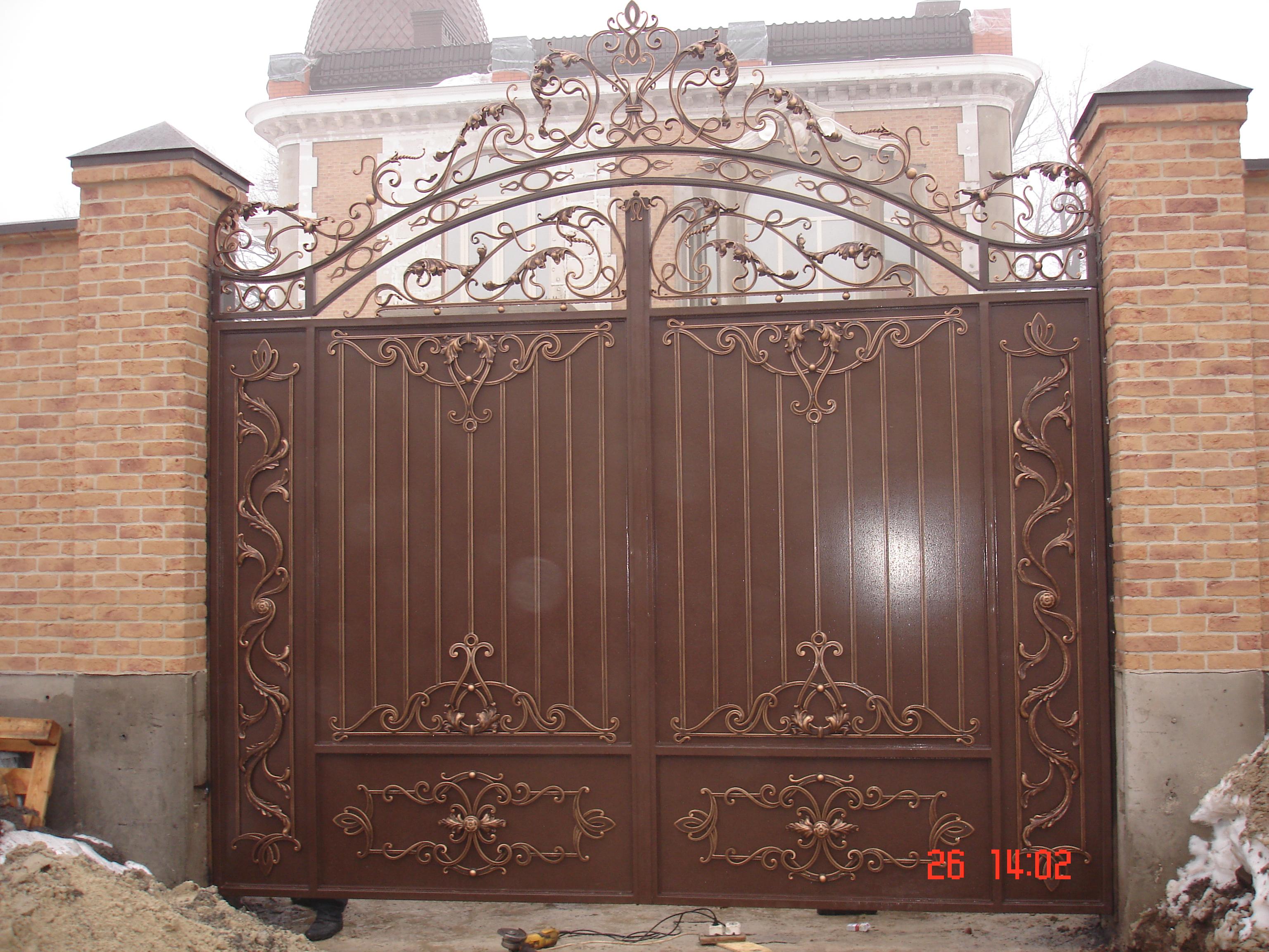 кованые ворота,двери,калитки под заказ