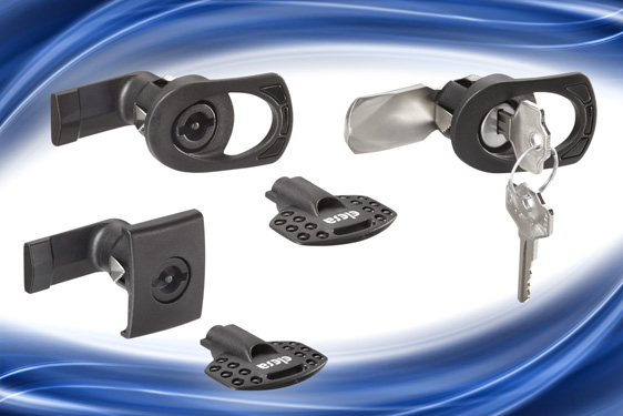 Elesa's CQ and CSL series IP65 latches incorporate a quick assembly spring clip mechanism which acco...
