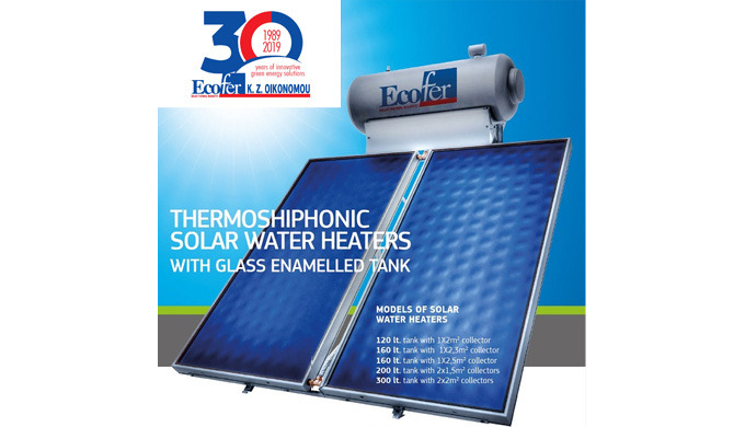 Ecofer provides complete thermosiphonic solar water heaters of high quality materials that can be in...